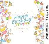 vector illustration happy... | Shutterstock .eps vector #511171483