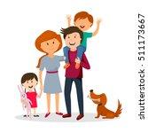 lovely happy family | Shutterstock .eps vector #511173667