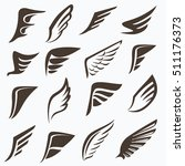 wings collection  set of... | Shutterstock .eps vector #511176373