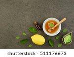 homemade lemon essential oil ... | Shutterstock . vector #511176673