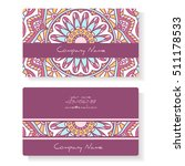business cards with geometric... | Shutterstock .eps vector #511178533