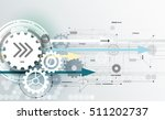 vector abstract futuristic... | Shutterstock .eps vector #511202737