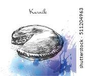 kurnik watercolor effect... | Shutterstock .eps vector #511204963