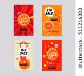 sale website banners design set....   Shutterstock .eps vector #511216303