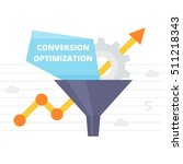 conversion optimization  ... | Shutterstock .eps vector #511218343