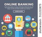 online banking  e banking... | Shutterstock .eps vector #511222873