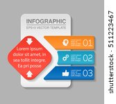 vector infographic template ... | Shutterstock .eps vector #511223467