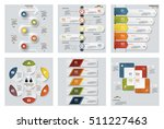 collection of 6 design colorful ... | Shutterstock .eps vector #511227463