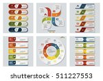 collection of 6 design colorful ... | Shutterstock .eps vector #511227553