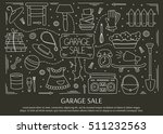 garage sale  household used... | Shutterstock .eps vector #511232563