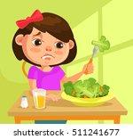 child girl character does not... | Shutterstock .eps vector #511241677