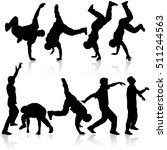 silhouettes breakdancer on a... | Shutterstock .eps vector #511244563