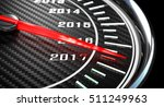 new year day 2017 speedometer... | Shutterstock . vector #511249963