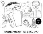 vector illustration of set hand ... | Shutterstock .eps vector #511257697