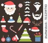 christmas icon set   Shutterstock .eps vector #511259743