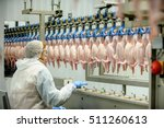 chicken factory line | Shutterstock . vector #511260613