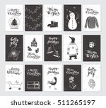 vector merry christmas black... | Shutterstock .eps vector #511265197