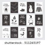 vector merry christmas black... | Shutterstock .eps vector #511265197
