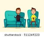 patient talking to psychologist.... | Shutterstock .eps vector #511269223