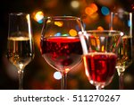 crystal glasses of wine on the... | Shutterstock . vector #511270267