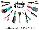 barber shop  haircut   beauty... | Shutterstock .eps vector #511270453