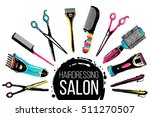 barber shop  haircut   beauty... | Shutterstock .eps vector #511270507