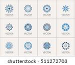 geometric logo template set.... | Shutterstock .eps vector #511272703