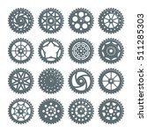 set of icons bicycle chainring. ...   Shutterstock .eps vector #511285303