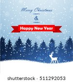 winter christmas forest with... | Shutterstock .eps vector #511292053