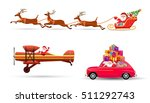 santa claus on sleigh and his... | Shutterstock .eps vector #511292743
