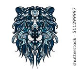 patterned head of the lion.... | Shutterstock .eps vector #511299997