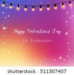 happy valentines day. gradient... | Shutterstock .eps vector #511307407