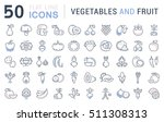 set vector line icons in flat... | Shutterstock .eps vector #511308313