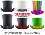 set of gentleman hat cylinder... | Shutterstock .eps vector #511309837