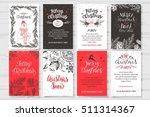 merry christmas invitation set. ... | Shutterstock .eps vector #511314367