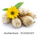 Jerusalem Artichoke On A White...