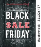 black friday sale banner on... | Shutterstock .eps vector #511326487