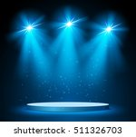 illuminated round stage podium... | Shutterstock .eps vector #511326703
