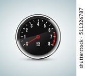 realistic tachometer device...   Shutterstock .eps vector #511326787