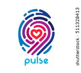 colorful pulse fingerprint logo ... | Shutterstock .eps vector #511328413