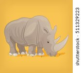 black rhino  vector illustration | Shutterstock .eps vector #511329223