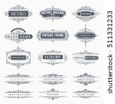 collection of vintage patterns. ... | Shutterstock .eps vector #511331233