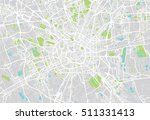 urban city map of milan  italy | Shutterstock .eps vector #511331413
