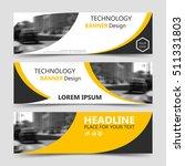 set of yellow banner ... | Shutterstock .eps vector #511331803