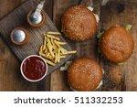 Sandwich Hamburger With Juicy...