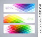 web banners set made with... | Shutterstock .eps vector #511335847