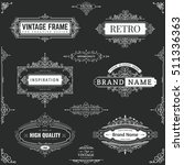 collection of vintage patterns. ... | Shutterstock .eps vector #511336363