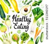 set of different vegetables ... | Shutterstock . vector #511340197