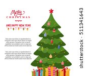 christmas card template. place... | Shutterstock .eps vector #511341643