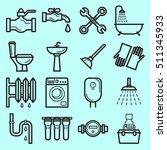 plumbing service vector icons...   Shutterstock .eps vector #511345933